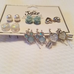 Earrings set. Owls roses and more